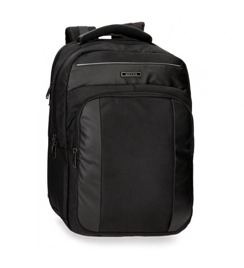 Movom Mochila para laptop 15,6 polegadas Movom Clark Black -30x44x18cm