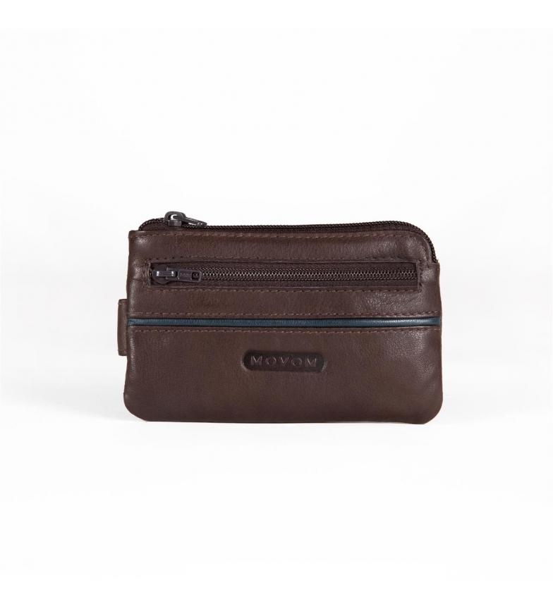 Comprar Movom Porte-monnaie en cuir Movom Sport avec porte-cartes marron -11x7x1.5cm-