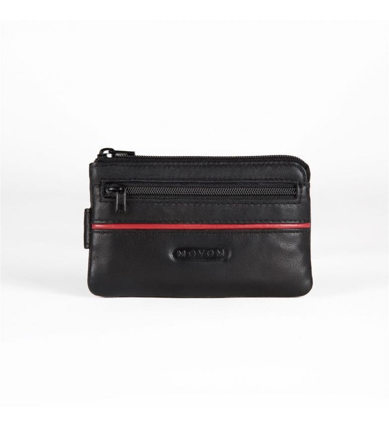 Comprar Movom Bolsa de couro Movom Sport com suporte de cartão preto -11x7x1.5cm-