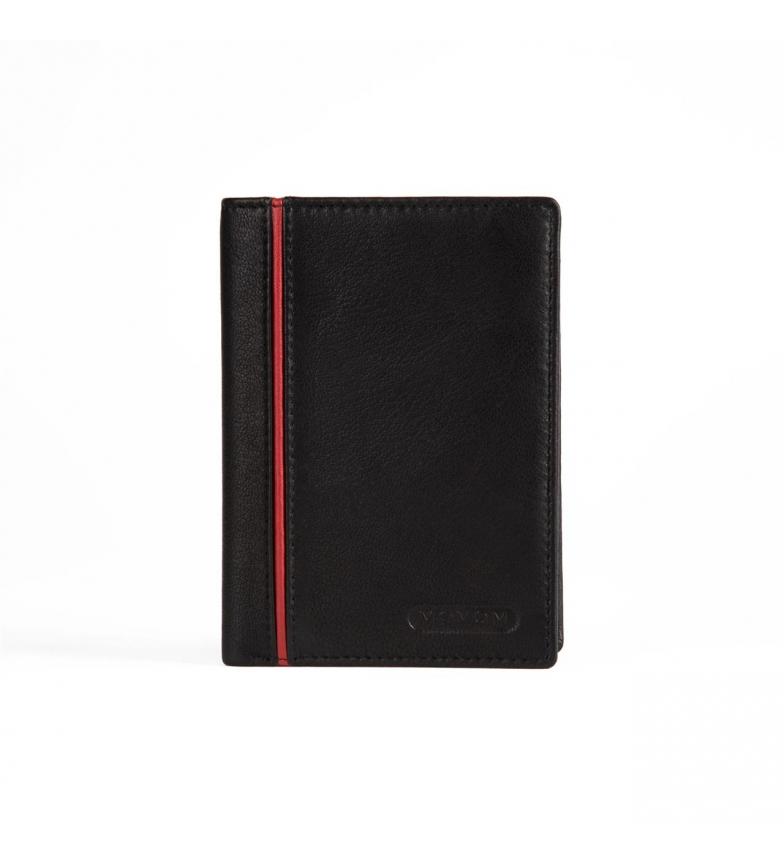 Comprar Movom Movom Capsule Porte-cartes en cuir noir -9x12.5x1cm-