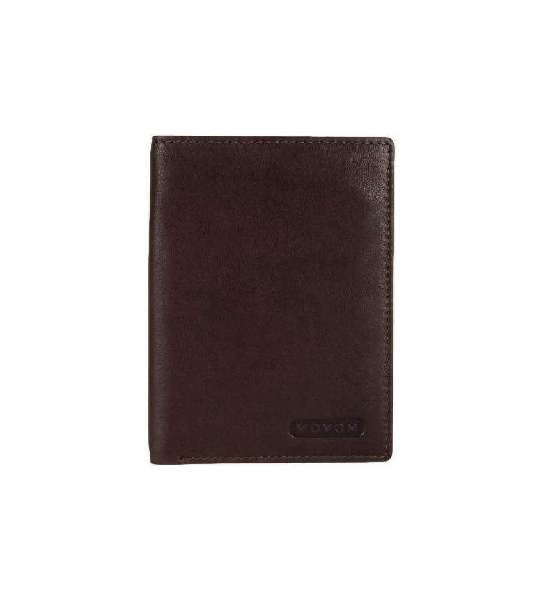 Comprar Movom Suporte de cartão de couro Movom Rectangle Brown -9x12.5x1cm-