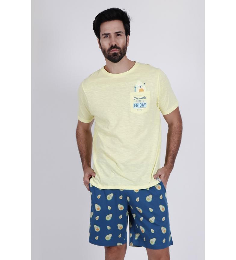 Comprar Disney & Friends Pijama manga curta Abacates amarelo