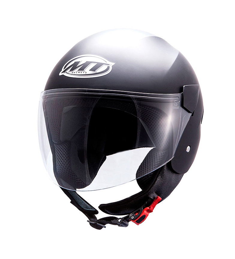 Compar MT Helmets Casco demi-jet MT City Sport negro mate