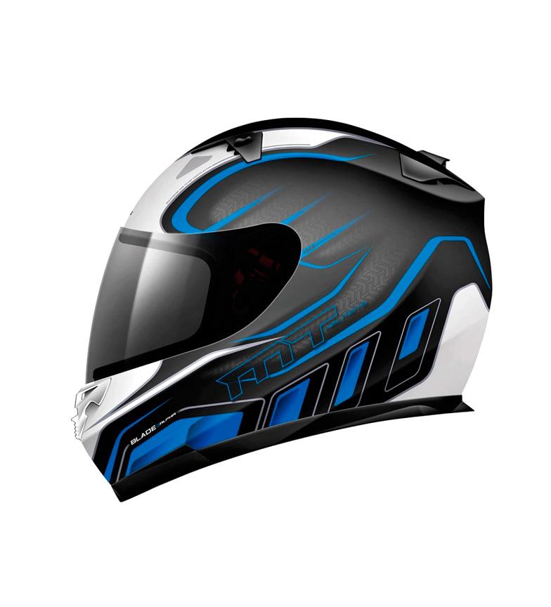 Comprar MT Helmets Casco integral MT Blade SV Alpha negro, blanco, azul