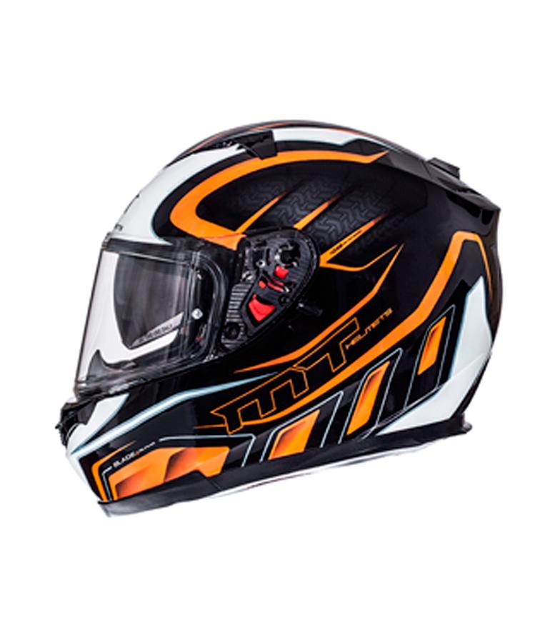 Comprar MT Helmets Casco integral MT Blade SV Alpha negro, blanco, naranja