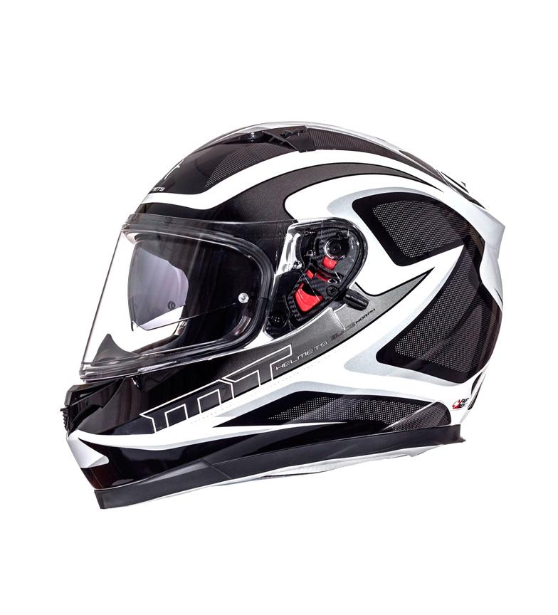 Comprar MT Helmets Casco integral MT Blade SV Morph blanco perla, negro, gris
