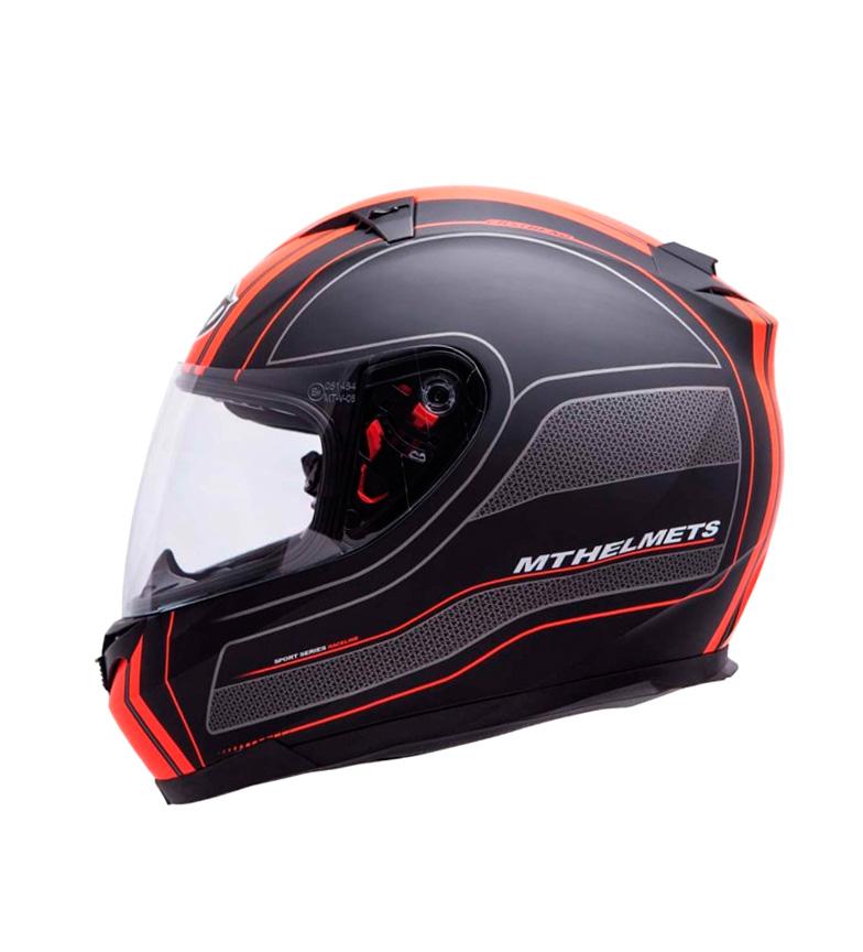 Comprar MT Helmets Casco integral MT Blade SV Raceline negro, naranja mate