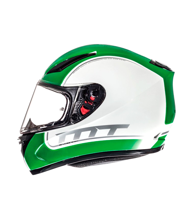 Comprar MT Helmets Casco integral MT Revenge Binomy blanco perla, rojo, verde
