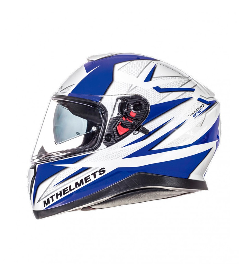 Comprar MT Helmets Casco integral MT Thunder 3 SV Efect blanco, azul