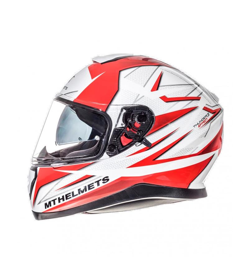 Comprar MT Helmets Casco integral MT Thunder 3 SV Efect blanco, rojo