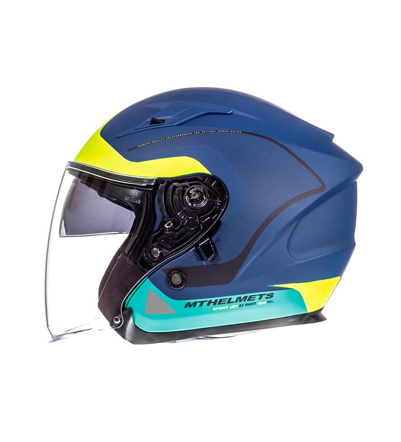 Comprar MT Helmets Casco jet Avenue Cross Road blu, giallo