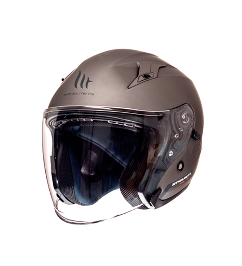 Comprar MT Helmets Casco jet MT Avenue SV Solid gris mate
