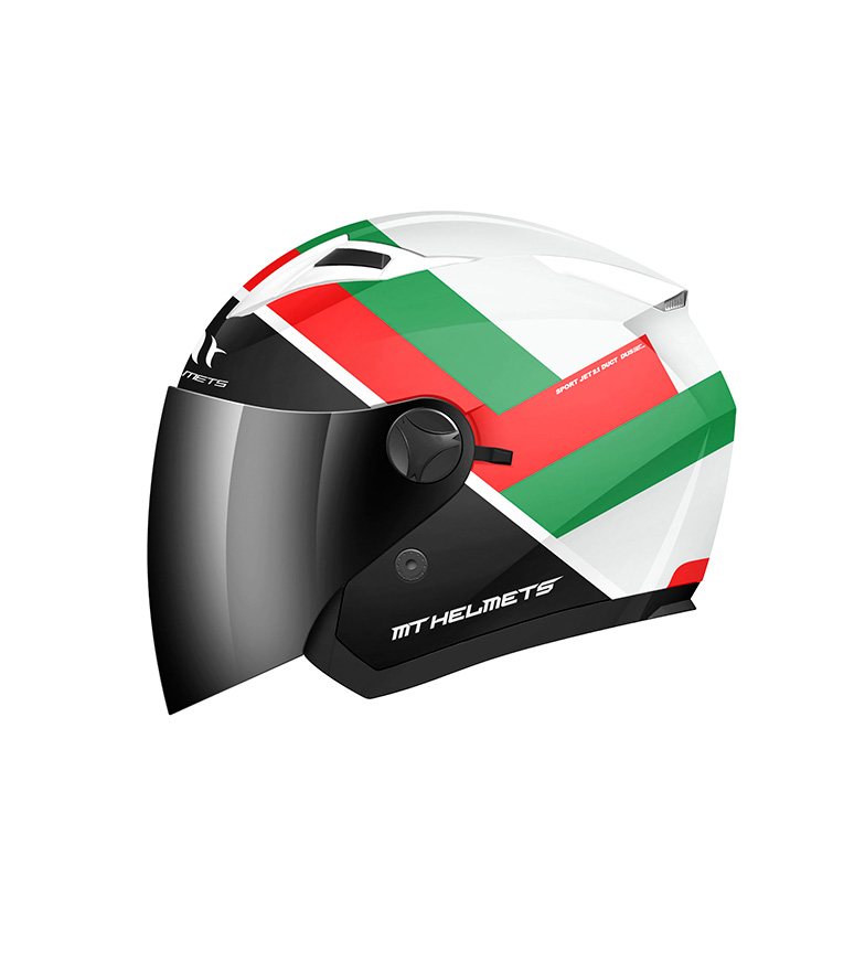 Comprar MT Helmets Casco jet MT Boulevard blanco, verde