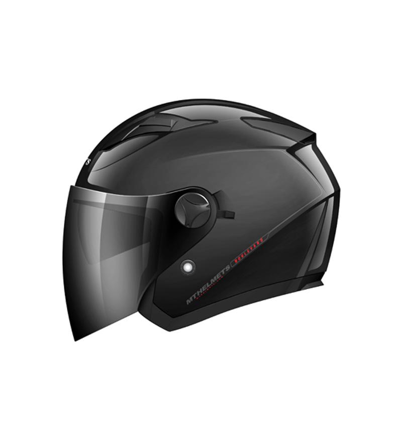 Comprar MT Helmets Casco jet MT Boulevard negro brillo