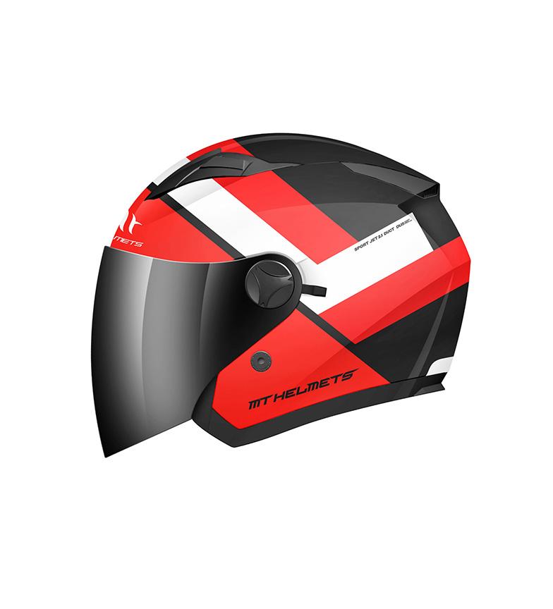 Comprar MT Helmets Casco jet MT Boulevard negro, rojo