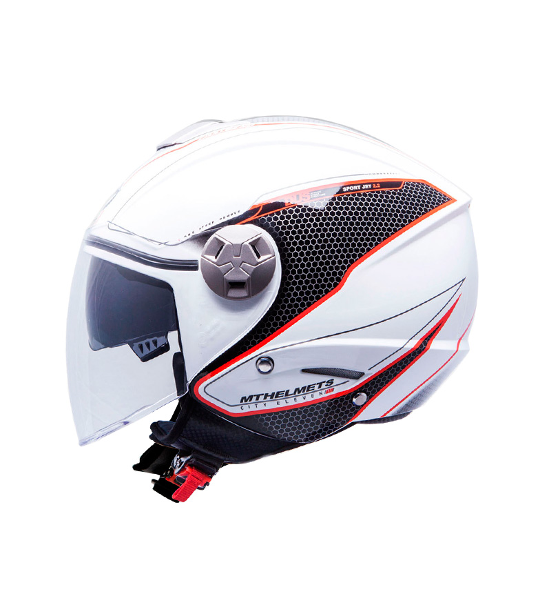 Comprar MT Helmets Casco jet MT City Eleven SV Dynamic blanco, rojo
