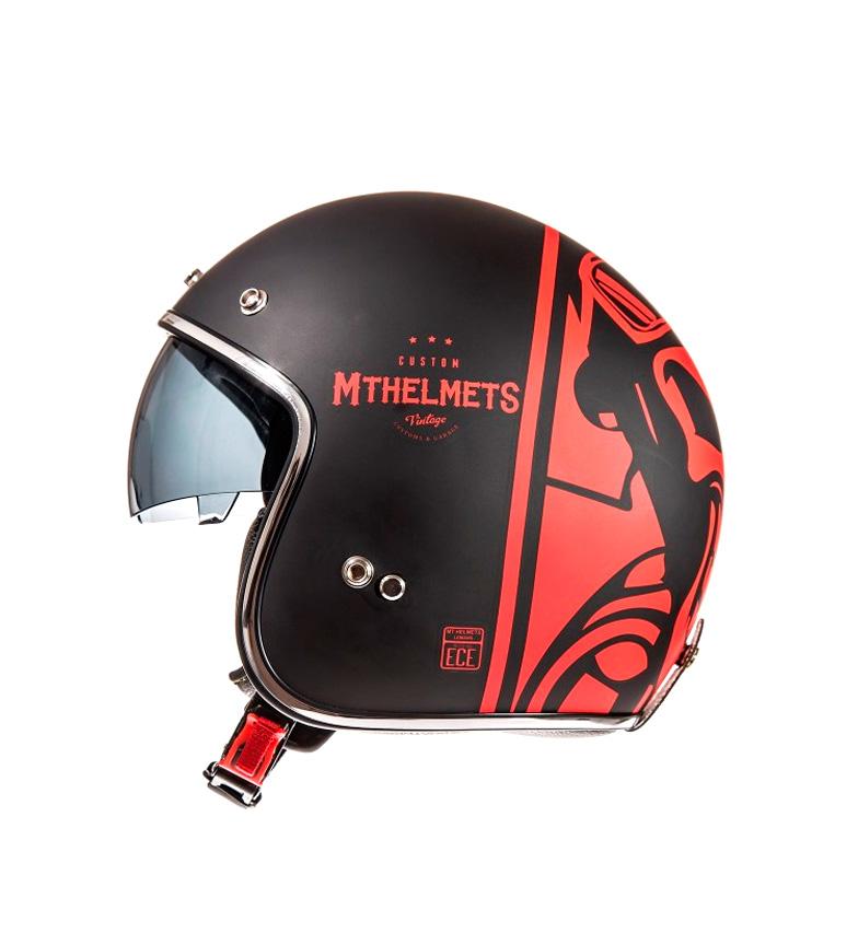 Comprar MT Helmets Casco jet MT Le Mans SV Divenire negro mate, rojo