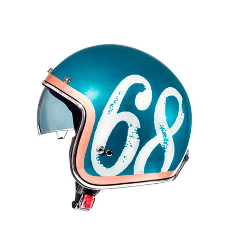Comprar MT Helmets MT Le Mans casco jet SV Hipster benzina blu, bronzo