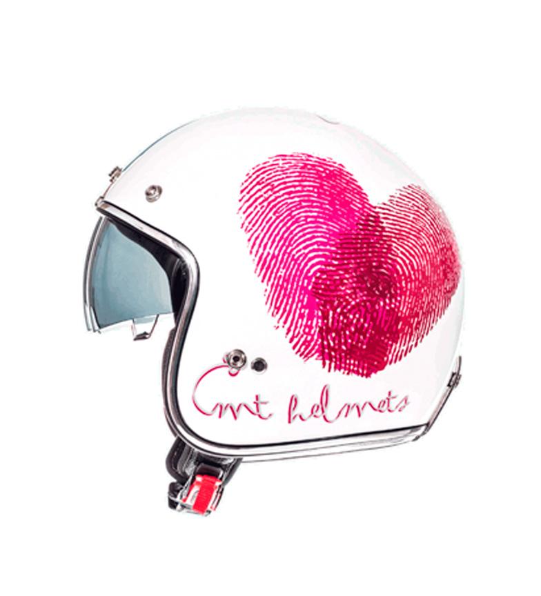 Comprar MT Helmets MT Le Mans capacete jet SV Amor pearl white, fúcsia, vermelho