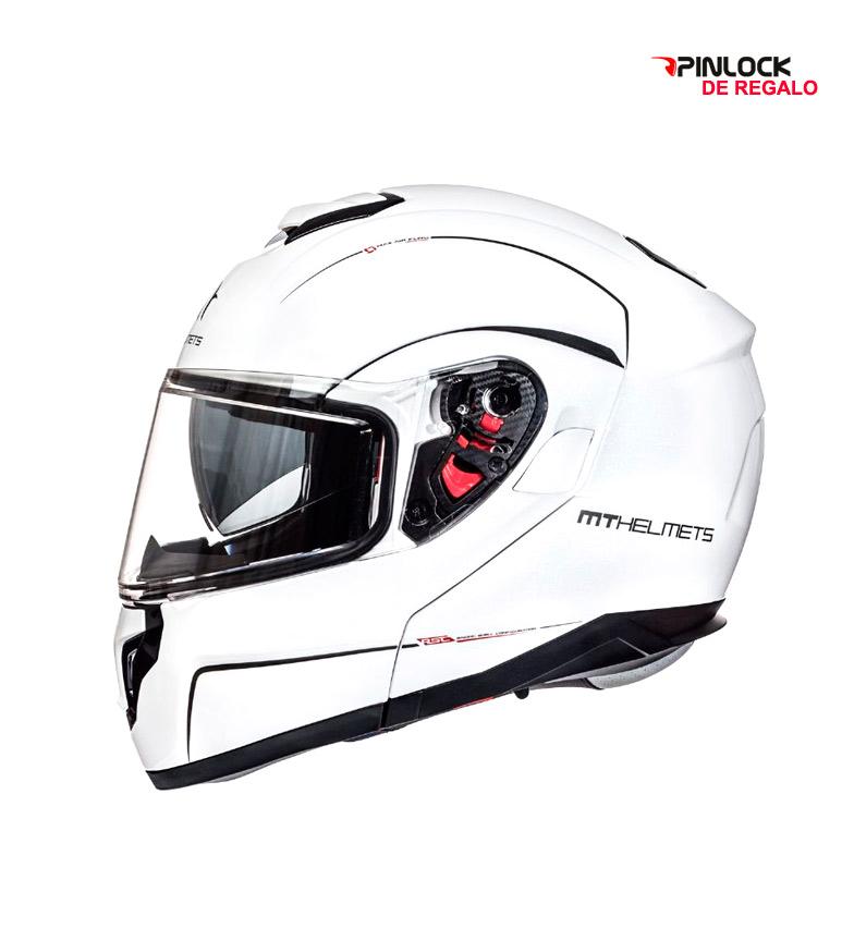 Comprar MT Helmets Casco modular MT Atom SV Solid blanco perla -Pinlock de regalo-