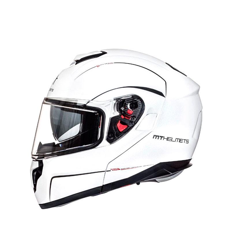 Comprar MT Helmets Branco sólido da pérola do capacete modular do átomo MT SV de SV - presente do pino