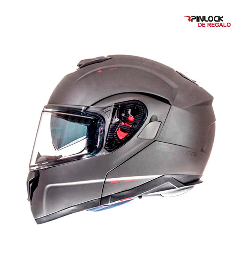 Comprar MT Helmets MT Atom SV Casque Modulaire Gris Mat Solide -Pinlock Cadeau-