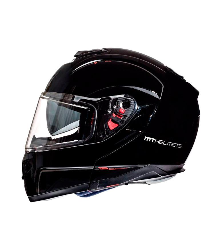 Comprar MT Helmets Casco modular MT Atom SV Solid negro brillo