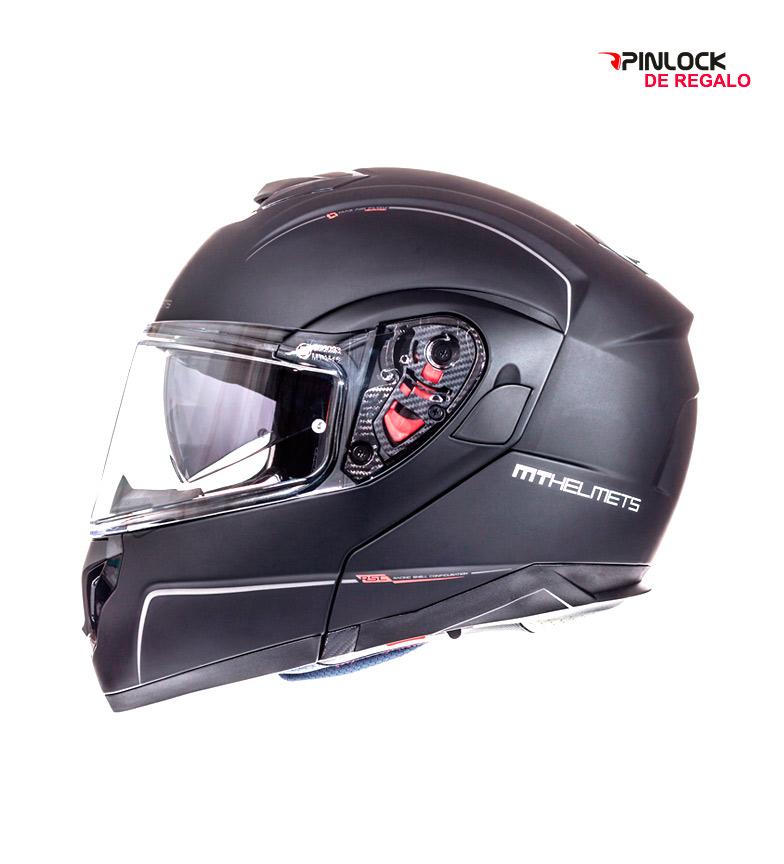 Comprar MT Helmets Capacete modular MT Atom SV -Pinlock preto fosco Sólidos de dom-