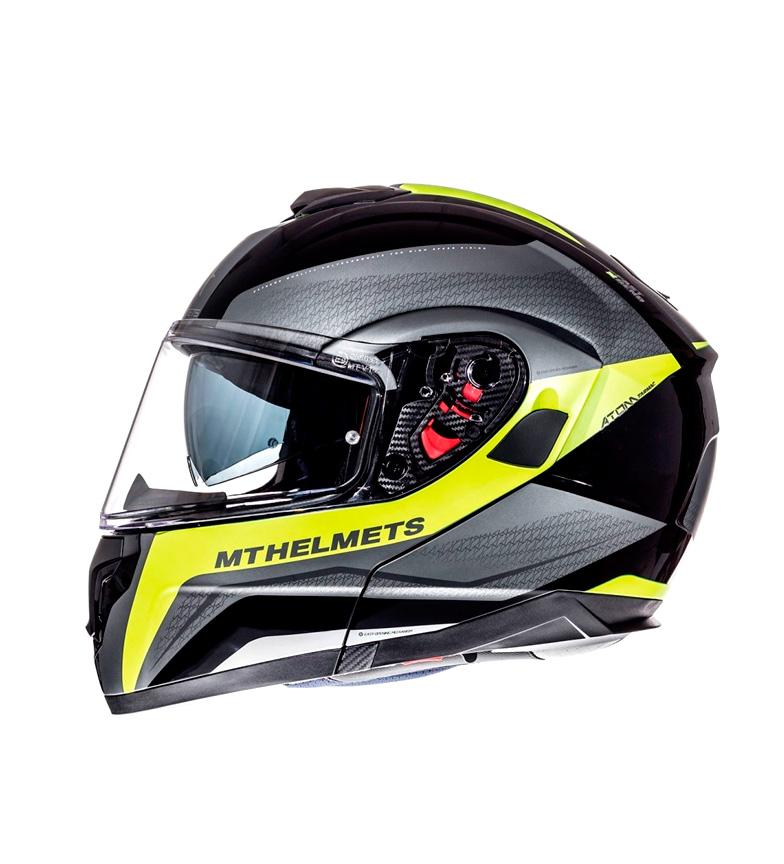Compar MT Helmets Casco modular MT Atom SV Tarmac negro, amarillo