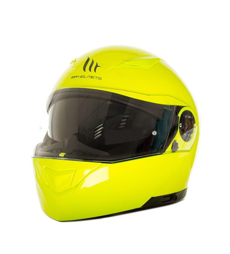 Comprar MT Helmets Casco modular MT Clever amarillo flúor