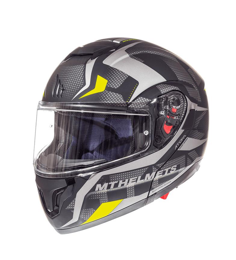 Comprar MT Helmets MT Atom SV Divergence A12 capacete modular cinza mate