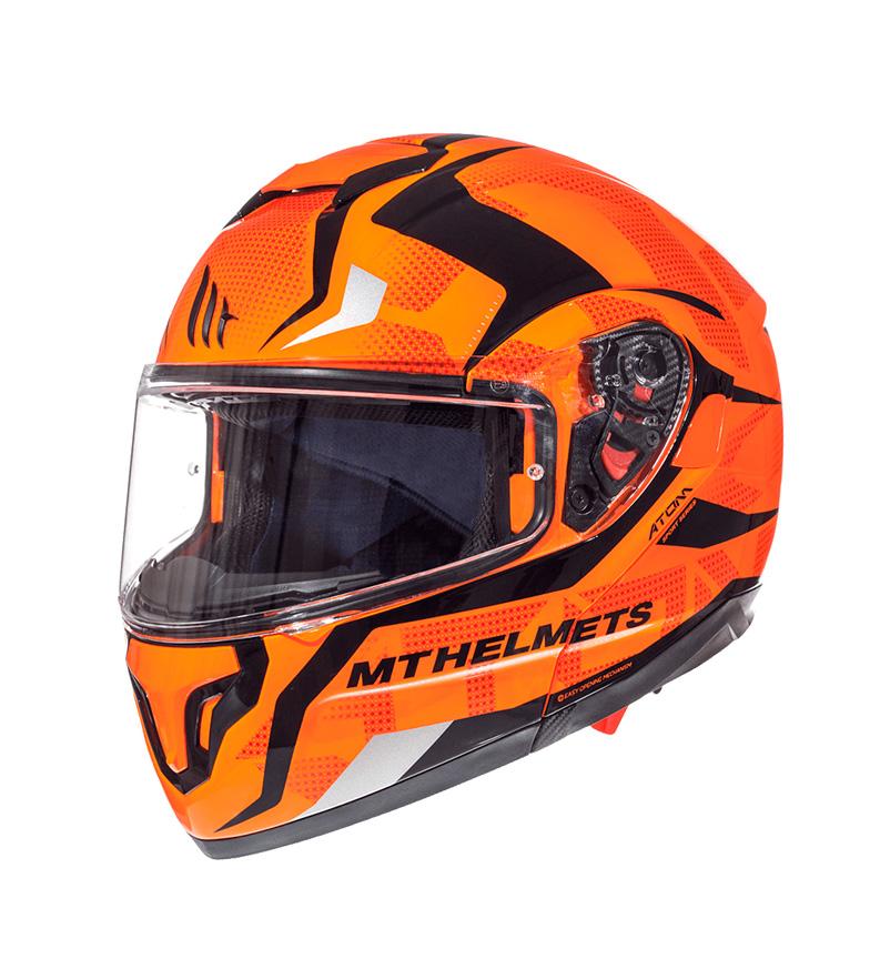 Comprar MT Helmets Casco modular MT Atom SV Divergence G1 naranja fluor