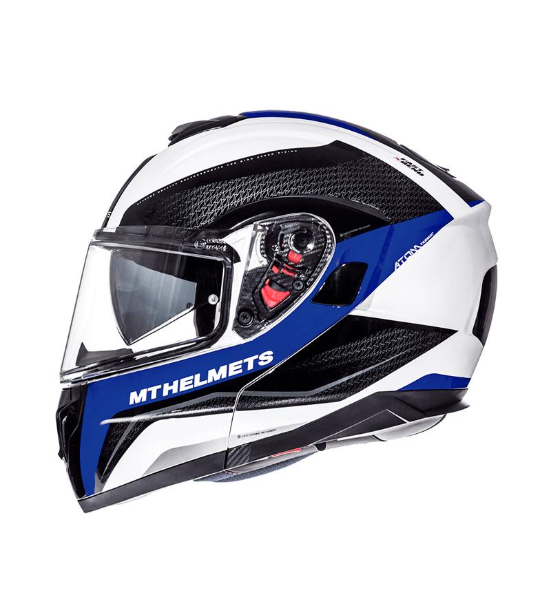 Comprar MT Helmets Casco modulare MT Atom SV Tarmac bianco perla, nero, blu