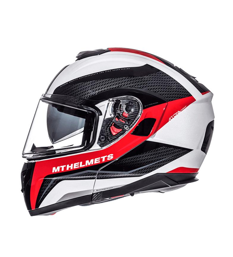 Comprar MT Helmets MT Atom SV Tarmac modular capacete branco pérola, preto, vermelho