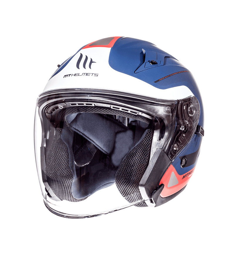 Comprar MT Helmets Jet helmet MT Avenue SV Crossroad blue, white pearl, matt red