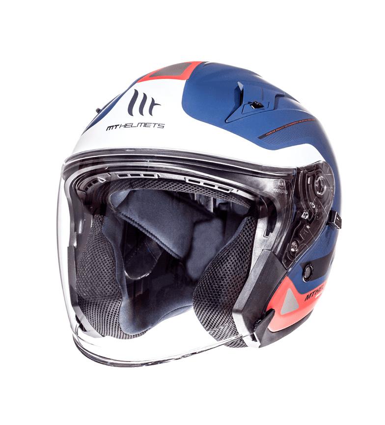 Comprar MT Helmets SV jet scafo Crossroad Viale MT blu, bianco perla, rosso opaco