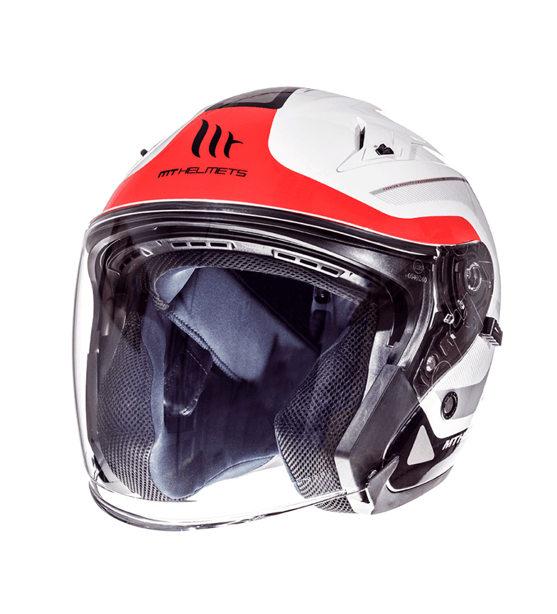 Comprar MT Helmets Jet helmet MT Avenue SV Crossroad white pearl, red gloss