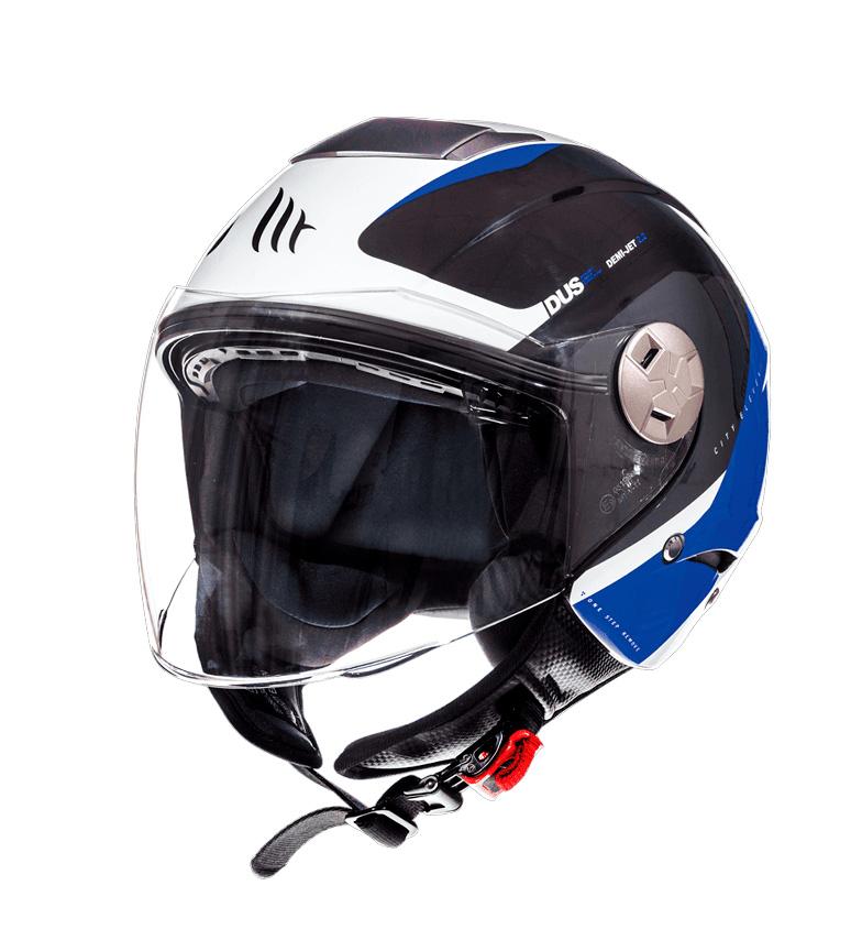 Comprar MT Helmets Casco jet MT City Eleven SV Spark C2 azul perla