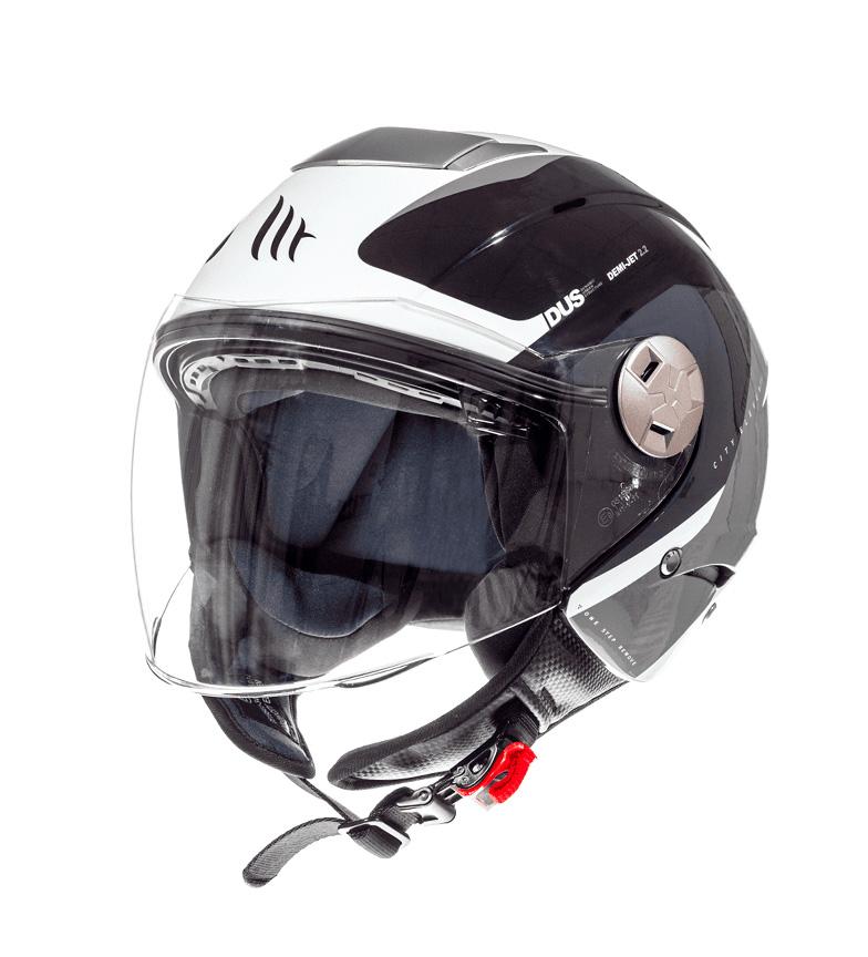 Comprar MT Helmets Capacete jet MT City Eleven SV Spark C3 cinza pérola