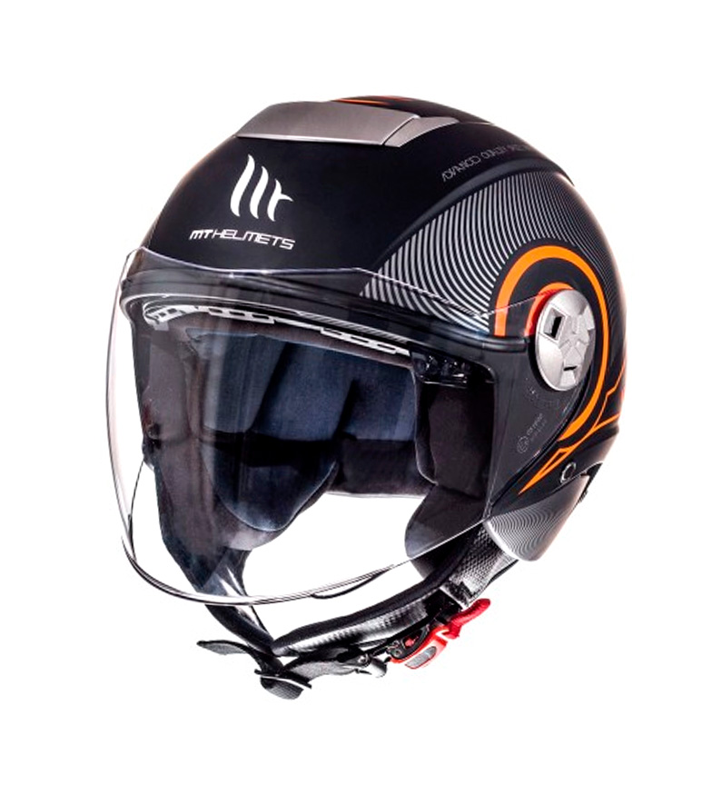 Comprar MT Helmets Casque jet MT City Eleven SV Tron mat noir, orange