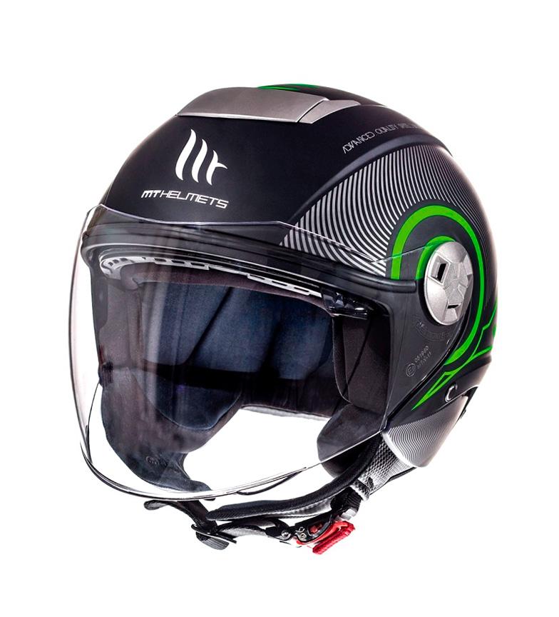 Comprar MT Helmets Capacete Jet MT City Eleven SV Tron preto fosco, verde