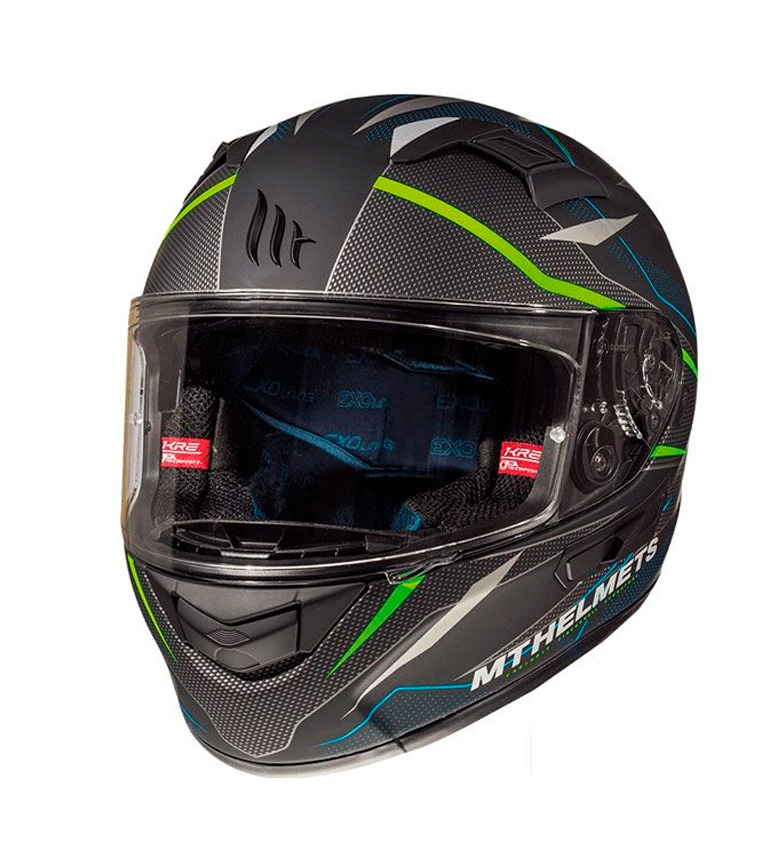 Comprar MT Helmets Integral helmet MT KRE SV Intrepid C1 green fluor matt