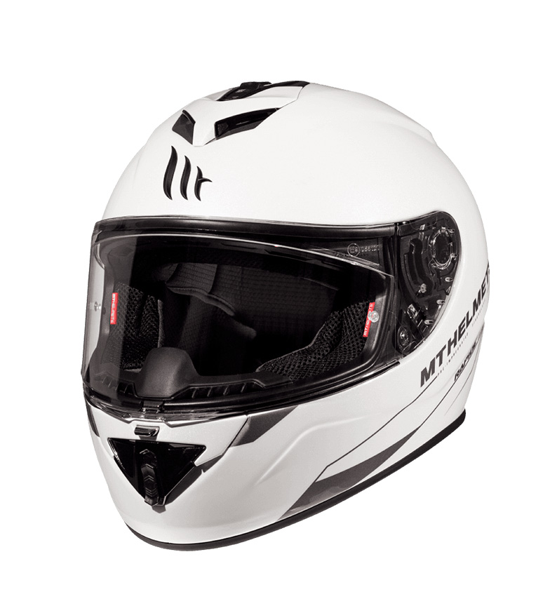 Comprar MT Helmets Casco integral MT Rapide Solid A0 blanco perla brillo
