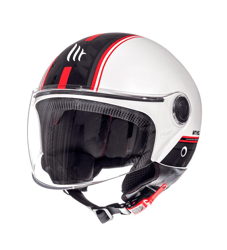 Comprar MT Helmets Capacete jet MT Street Entire D1 branco, vermelho
