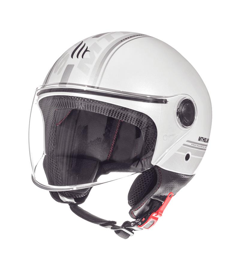 Comprar MT Helmets Capacete Jet MT Rua Toda E6 pérola branca