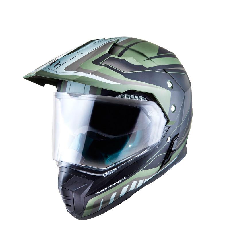 Comprar MT Helmets Casque hors route MT Synchrony Duo Sport Tourer vert, noir mat