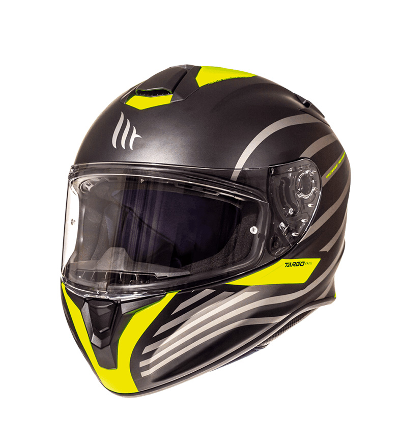 Comprar MT Helmets Casco integral MT Targo Doppler A1 amarillo fluor mate