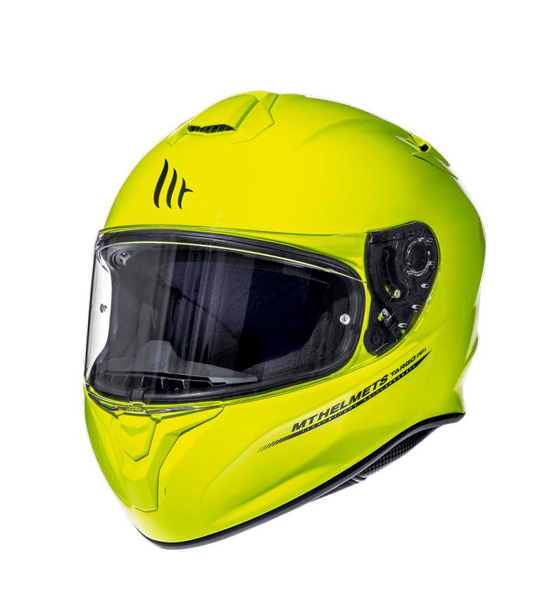Comprar MT Helmets Casco integral MT Targo Solid A3 amarillo fluor