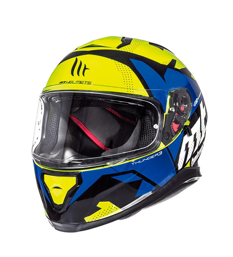 Comprar MT Helmets Casco integrale MT Thunder 3 SV Torn fluorescente giallo, blu