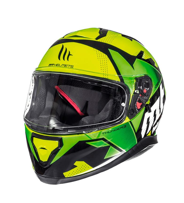 Comprar MT Helmets Integral helmet MT Thunder 3 SV Torn yellow fluorine, green fluorine